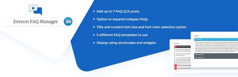 Everest FAQ Manager Lite - Free WordPress FAQ Plugins