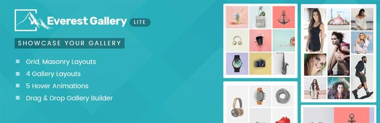 Everest Gallery Lite Best Free WordPress Gallery Plugins