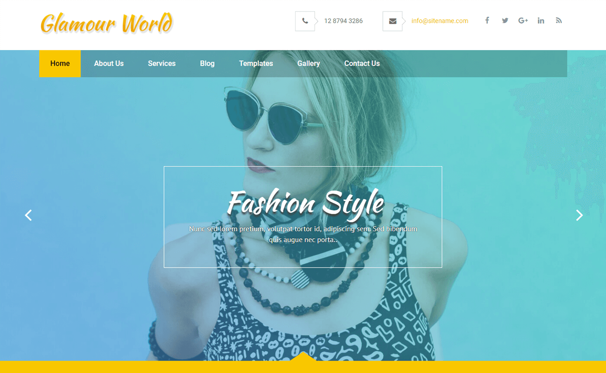 glamour world best free wordpress themes january 2018 - 21+ Best Free WordPress Themes January 2018