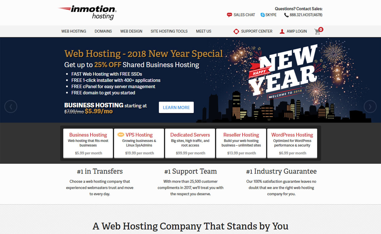 Inmotion Hosting-Best WordPress Hosting Services