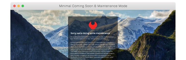 minimal coming soon maintenance mode best free wordpress coming soon maintenance mode plugins - 5+ Best Free WordPress Coming Soon/Maintenance Mode Plugins