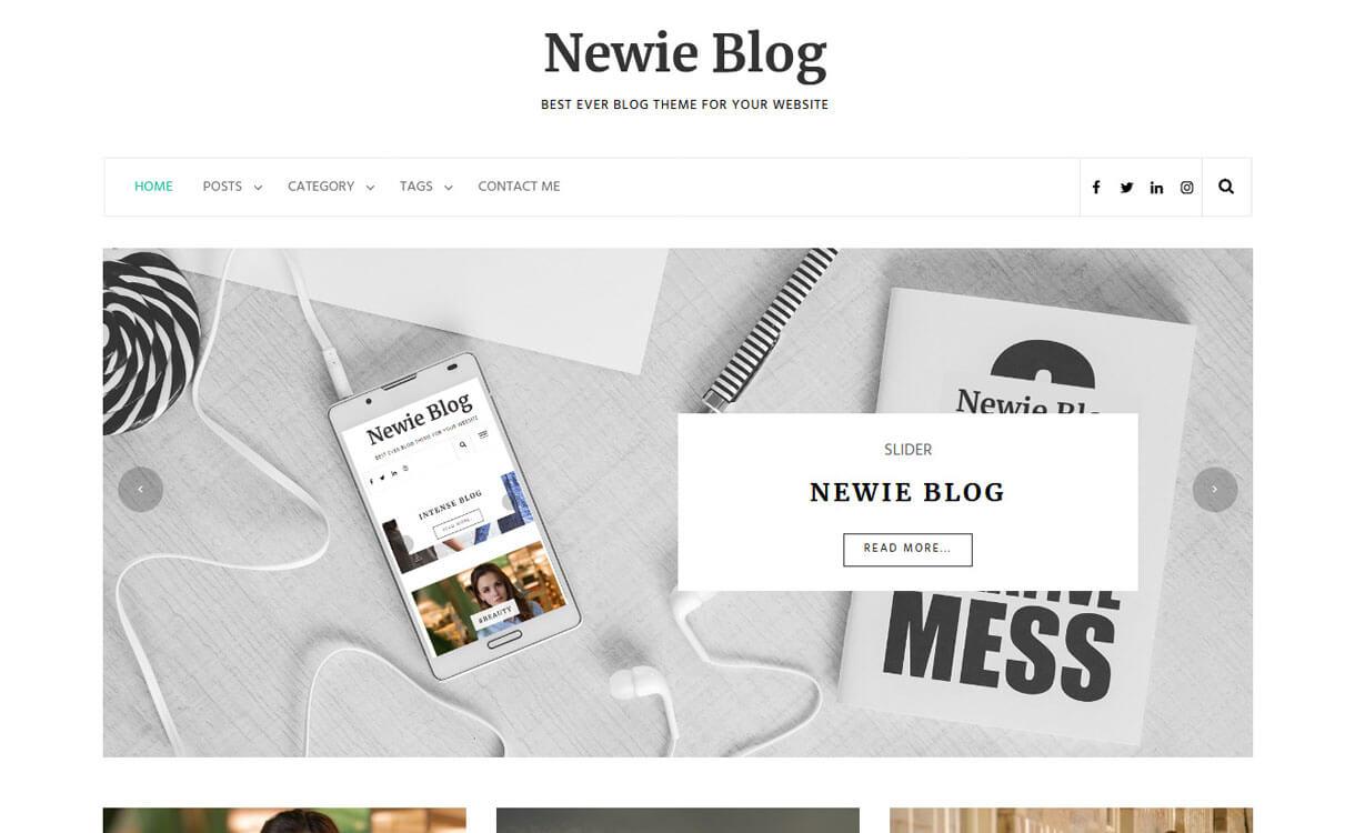 Newie-Best Free WordPress Theme January 2018