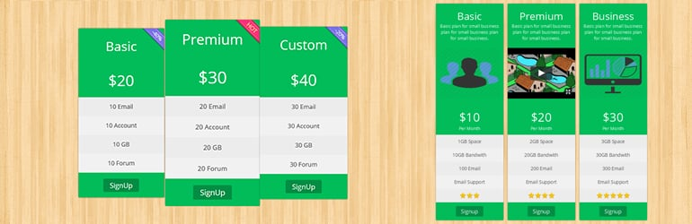 pricing table pickplugins best free wordpress pricing table plugins - Top 5 Best Free WordPress Pricing Table Plugins