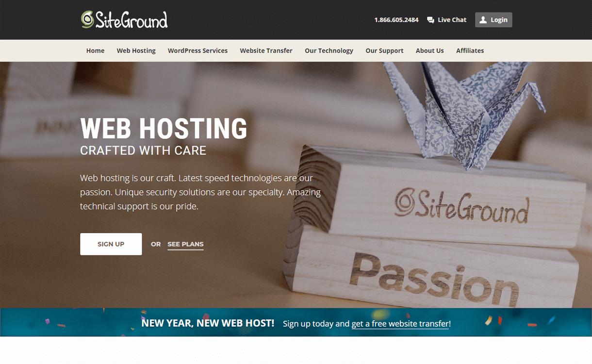 siteground best wordpress hosting services - 10+ Best WordPress Hosting Services 2019 (Updated)