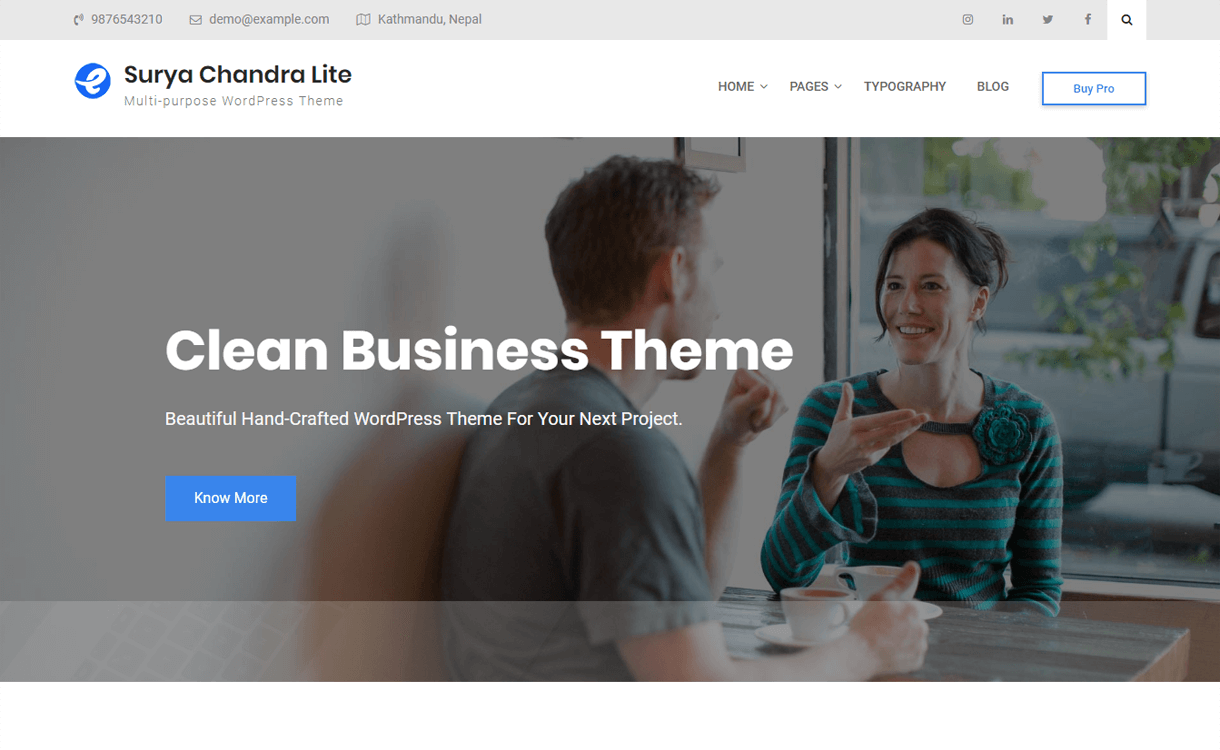 Surya Chandra Lite - WordPress Theme