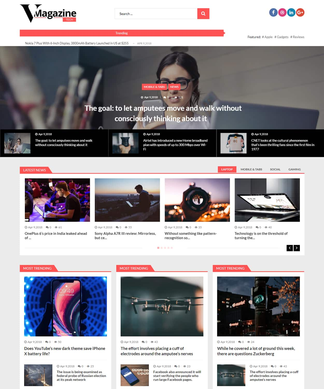 vmagazine tech - VMagazine Review - A hassle free, simple, clean and beautiful WordPress theme to start your news and magazine website