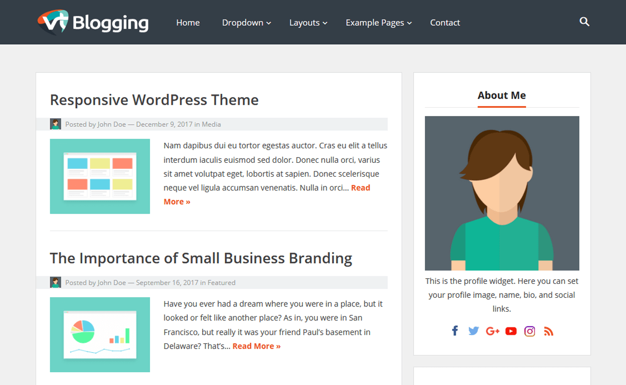 VT Blogging-Best Free WordPress Theme January 2018VT Blogging-Best Free WordPress Theme January 2018