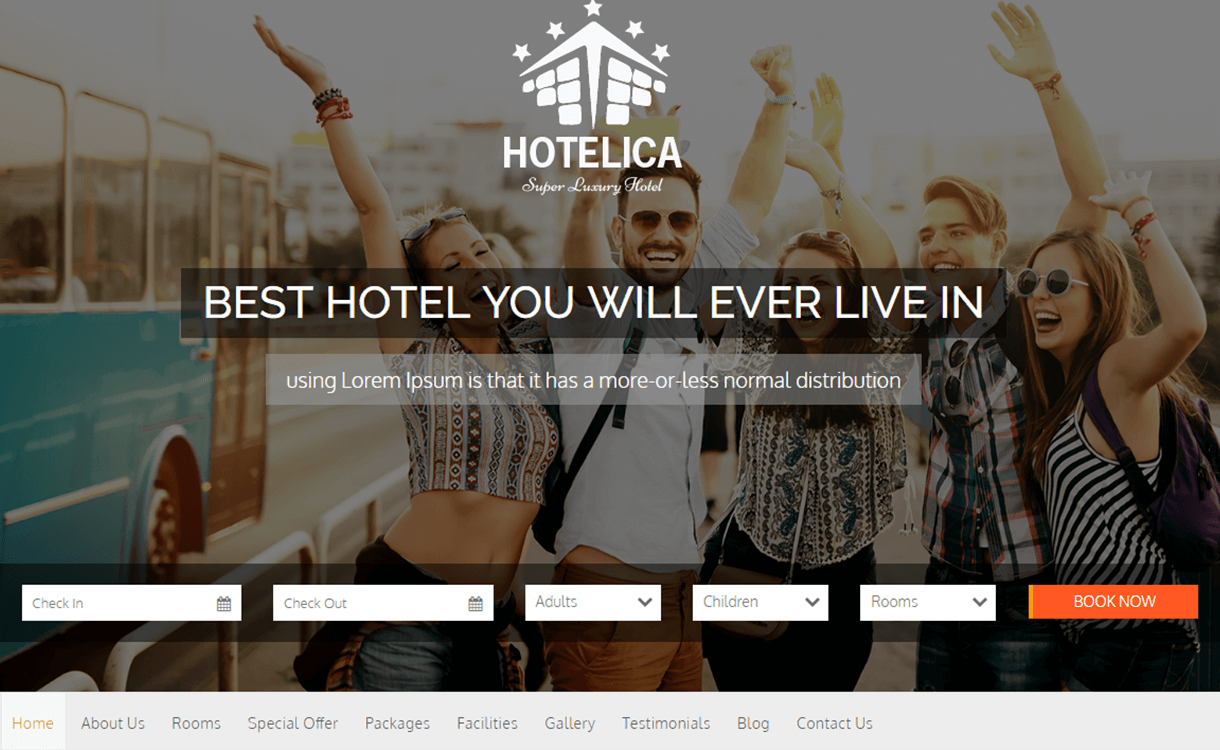 Hotelica - 25+ Best Cafe and Restaurant WordPress Themes 2019