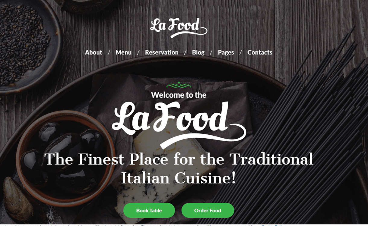 La food - 25+ Best Cafe and Restaurant WordPress Themes 2019