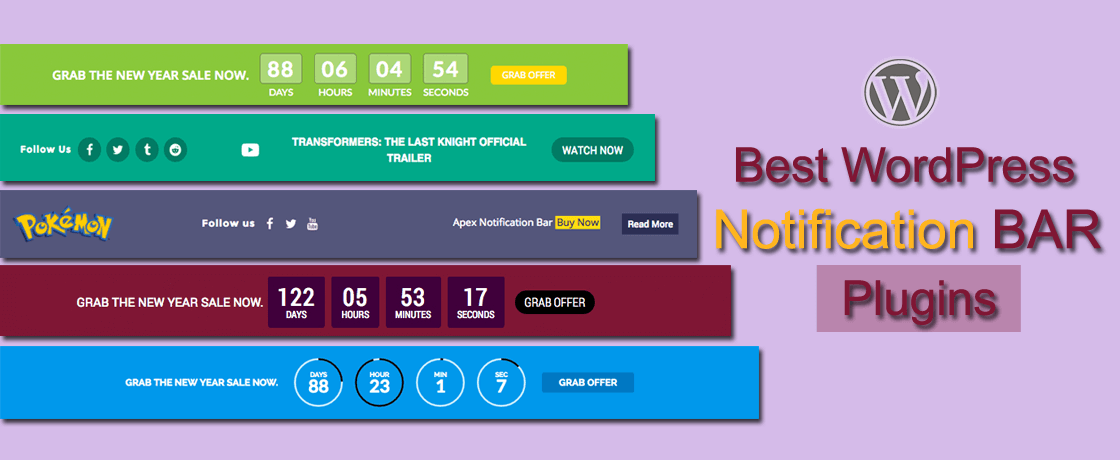 Best Free WordPress Notification Bar Plugins