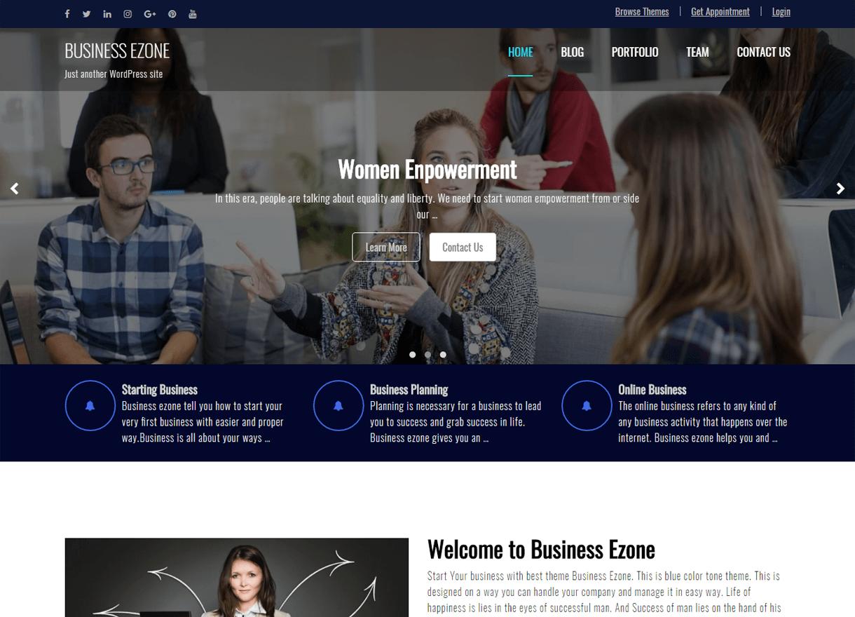 business ezone best free wordpress themes february - 21+ Best Free WordPress Themes February 2018