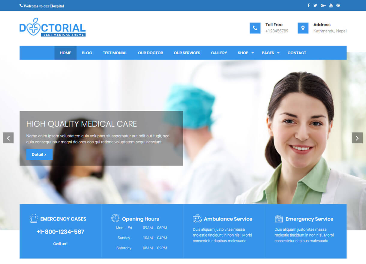 doctorial bet free wordpress themes february - 21+ Best Free WordPress Themes February 2018