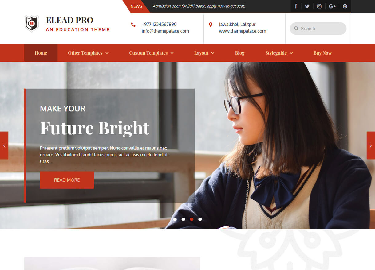 Elead-Best Free WordPress Themes February