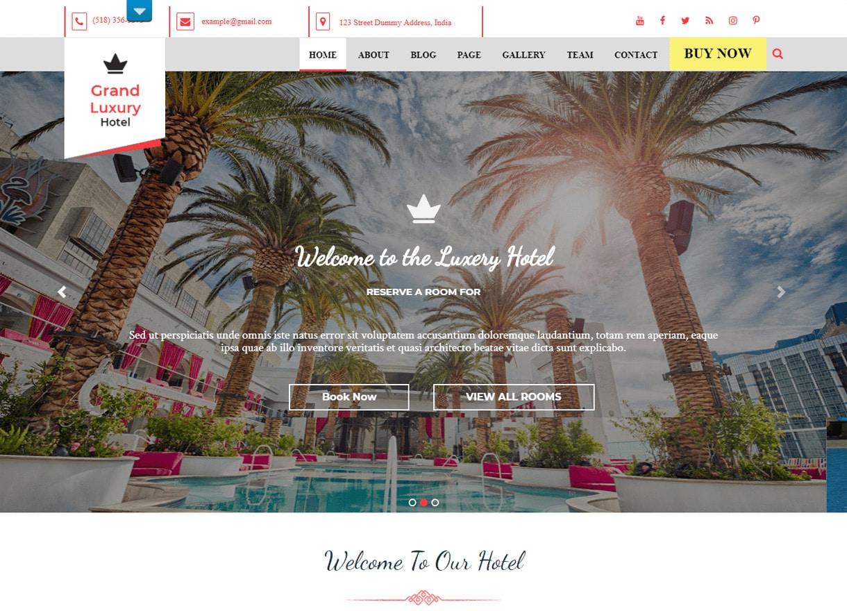 hotel resort best free wordpress theme - 21+ Best Free WordPress Themes February 2018