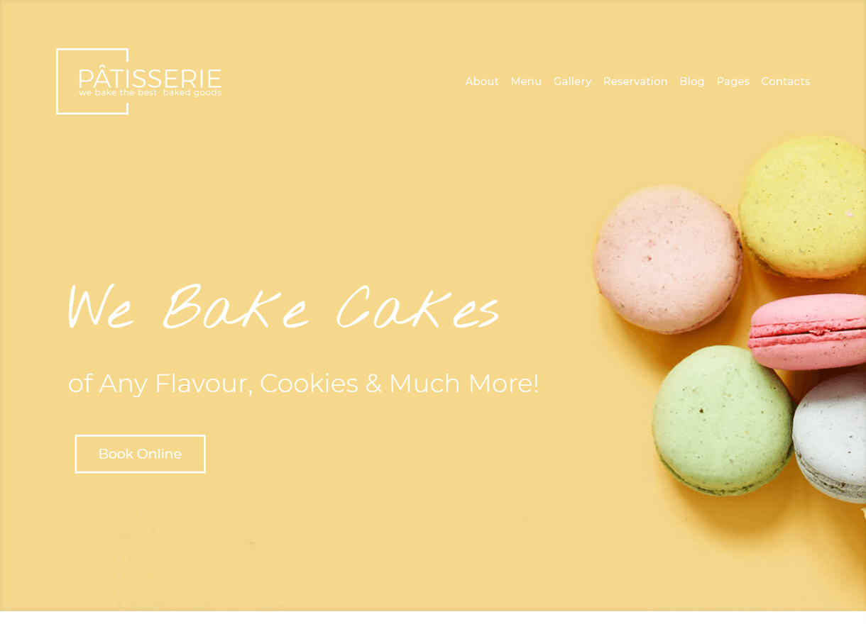 Patisserie-Best Cafe and Restaurant WordPress Themes