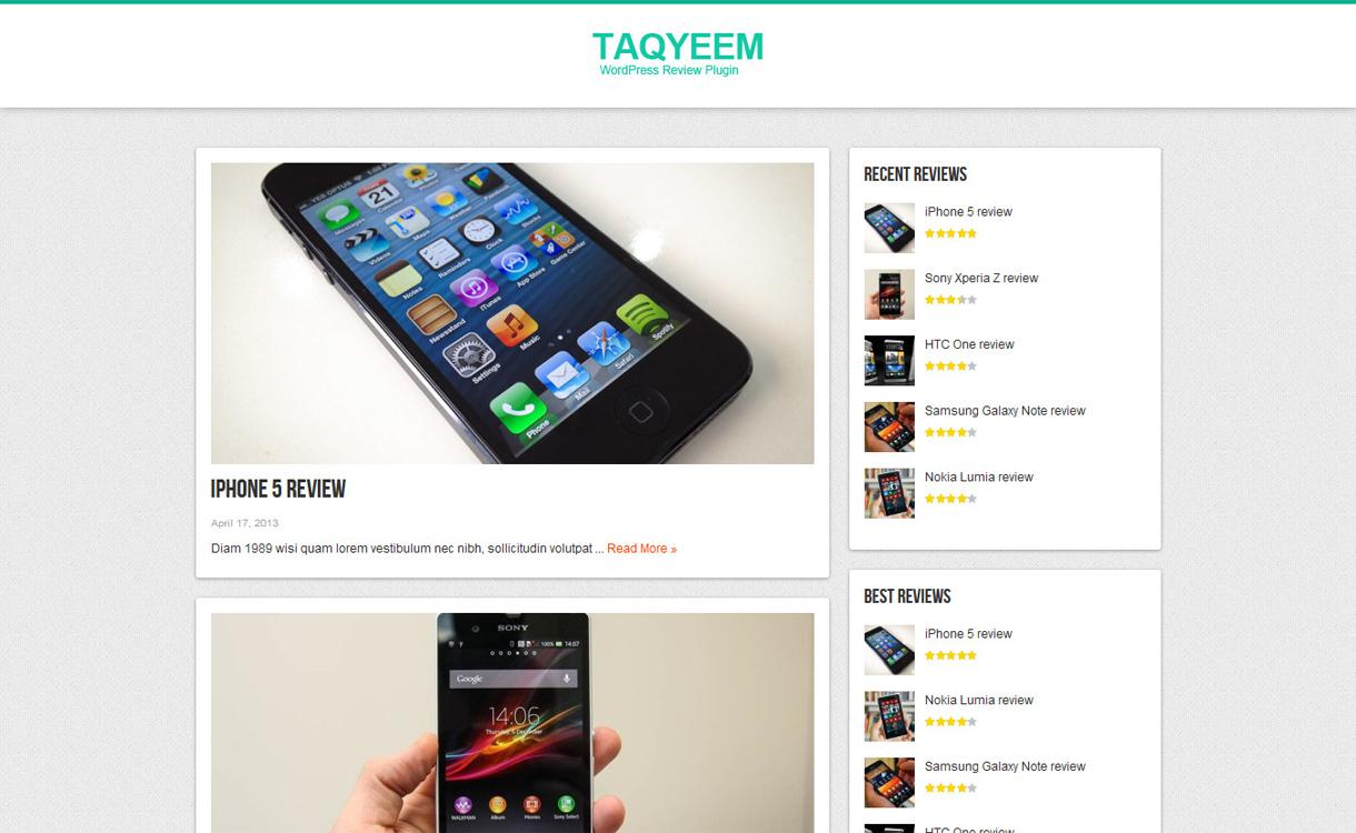 taqyeem wordpress user admin review plugin.jpg - 5+ Best WordPress Page/Post Review Plugins