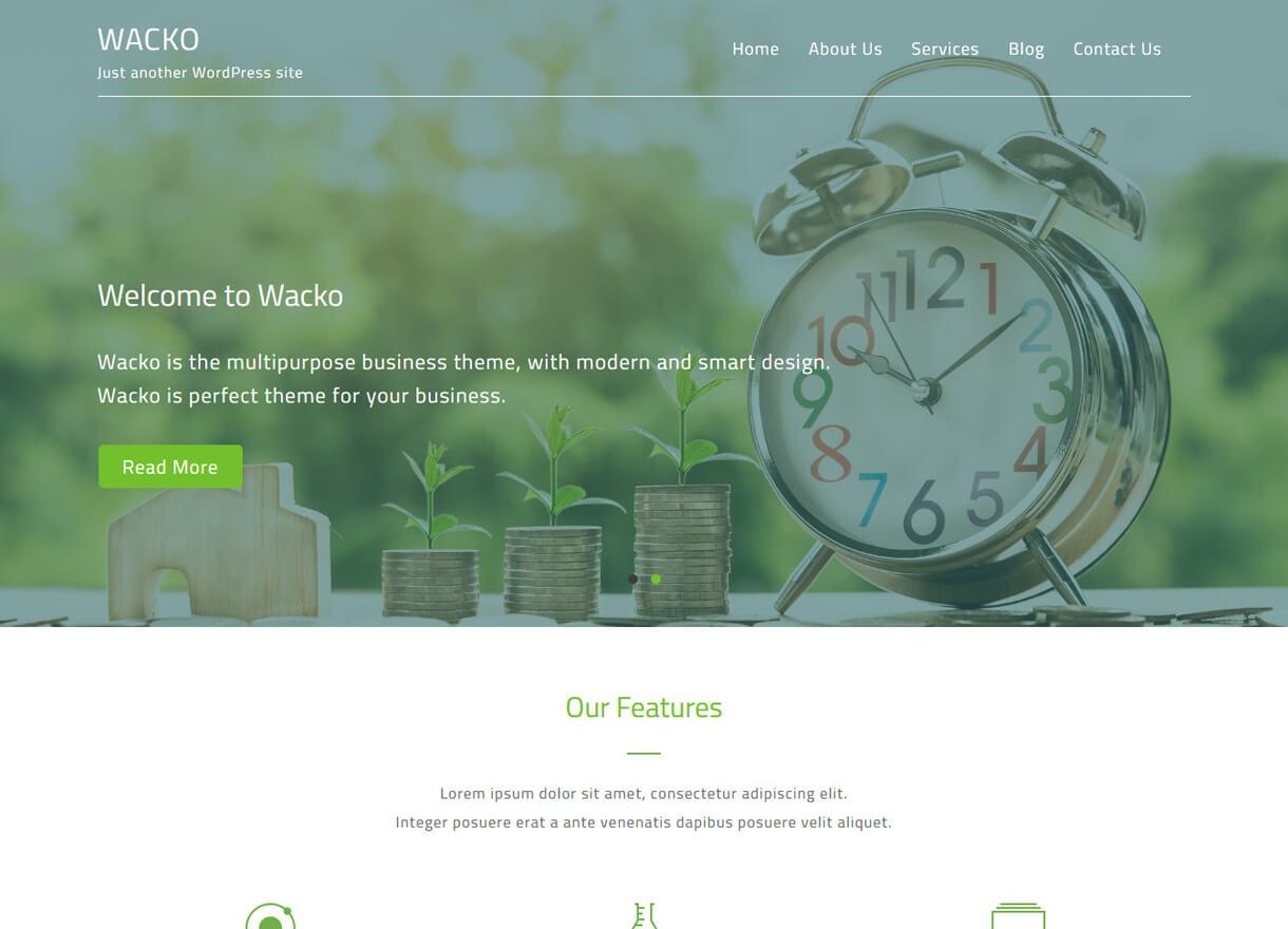 wacko best free wordpress themes february - 21+ Best Free WordPress Themes February 2018