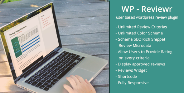 wp reviewr pro user based review plugin for wordpress - 5+ Best WordPress Page/Post Review Plugins
