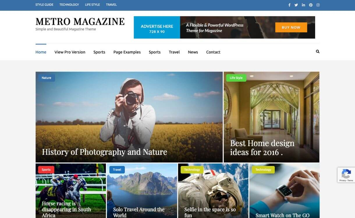 Metro Magazine - Free WordPress News-Magazine Theme