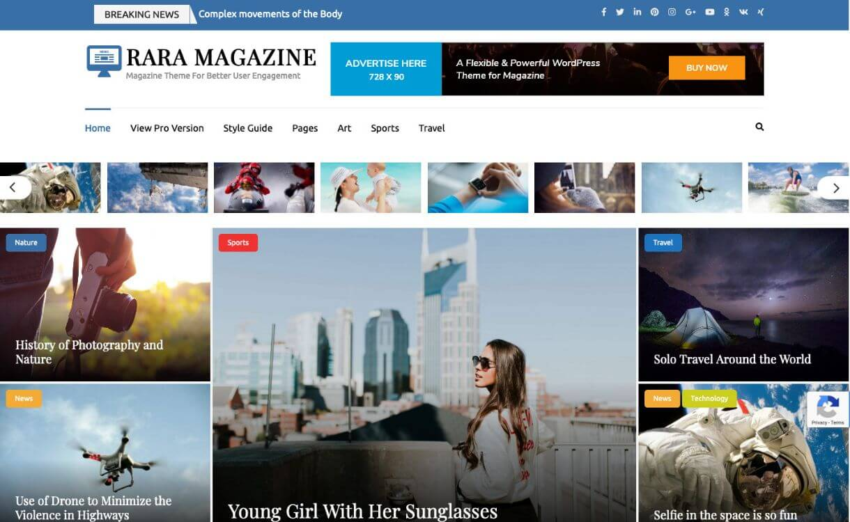 Rara Magazine Free WordPress Theme