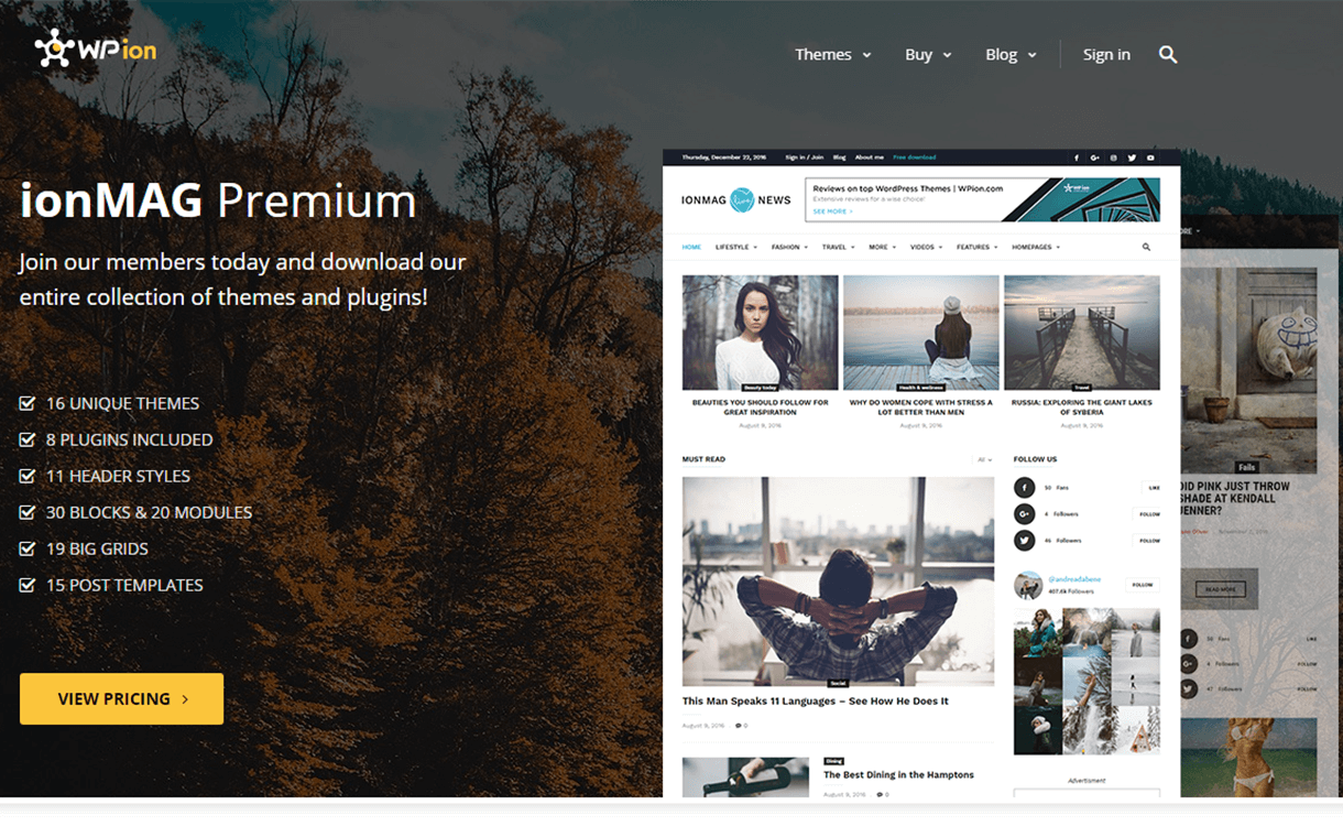 30% Off on Premium News WordPress Themes by ionMag