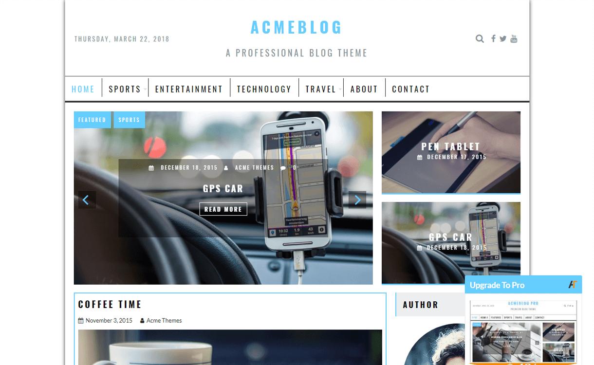 AcmeBlog-Free, Elegant and Best WordPress Blog Themes
