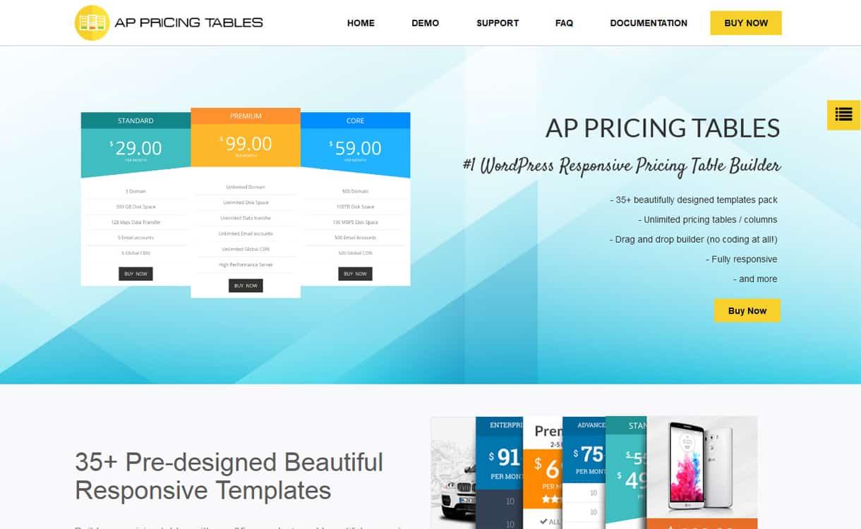 ap pricing table - 5+ WordPress Pricing Table Plugins 2019