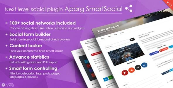 aparg smartsocial - 5+ Best WordPress Social Media Share/Counter Plugins (Premium Collection)