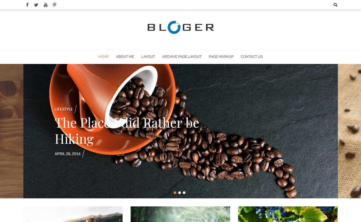 Bloger-Free, Elegant and Best WordPress Blog Themes
