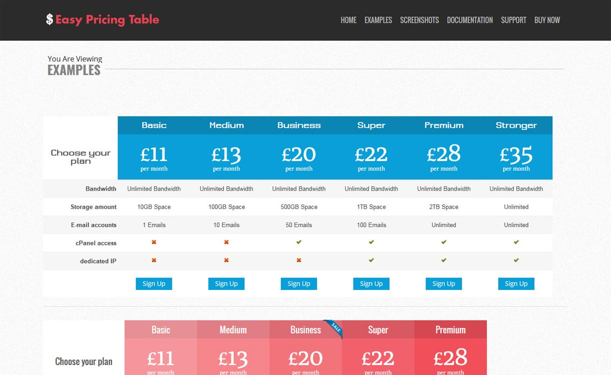 easy pricing table - 5+ WordPress Pricing Table Plugins 2019