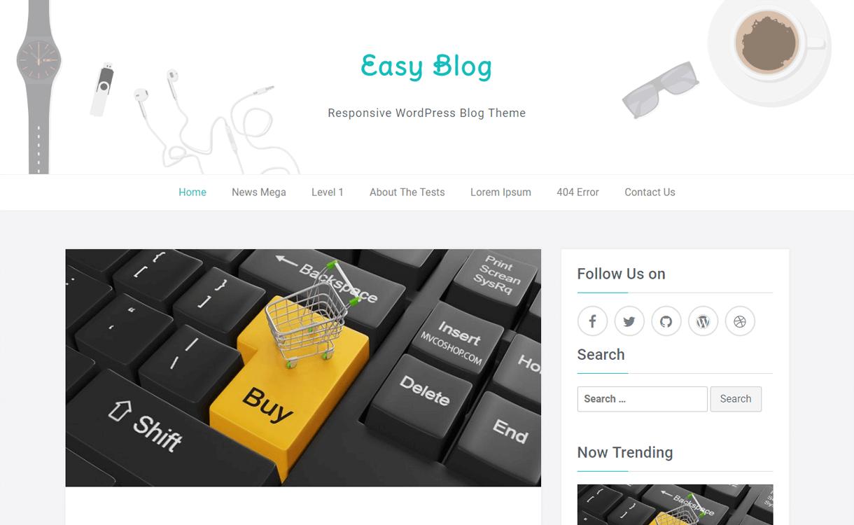 easyblog best free blog themes for wordpress - Free, Elegant and Best Blog Themes of WordPress For 2019