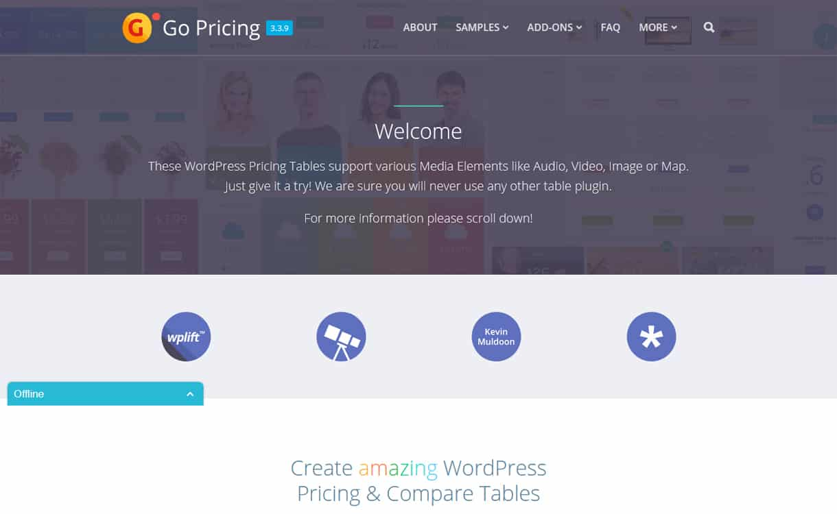 go pricing - 5+ WordPress Pricing Table Plugins 2019
