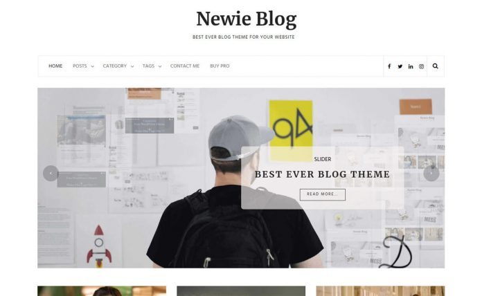 Newie - Clean and Mininmal Free WordPress Blog Theme