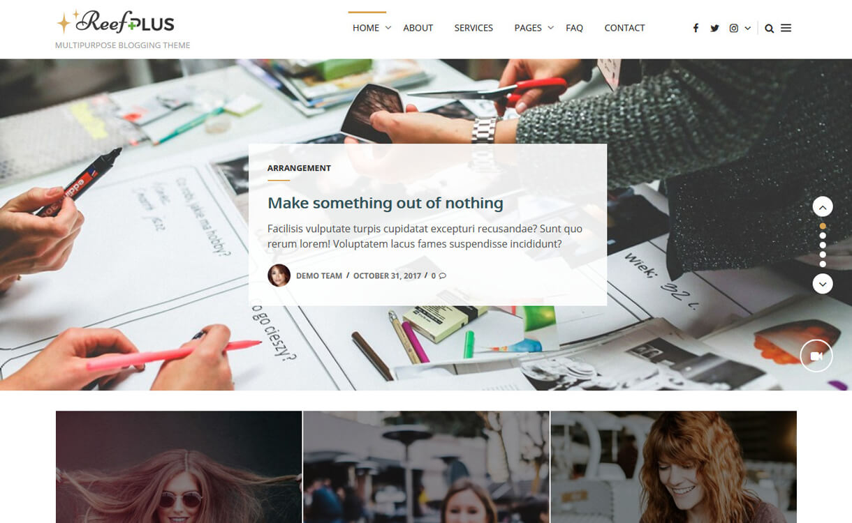 Reef-Free, Elegant and Best WordPress Blog Themes