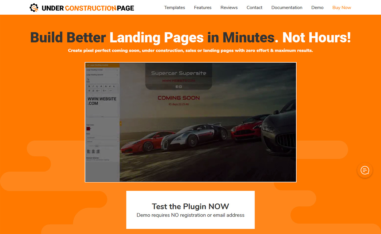 Under Construction Page - WordPress Coming Soon/Maintenance Mode Plugin