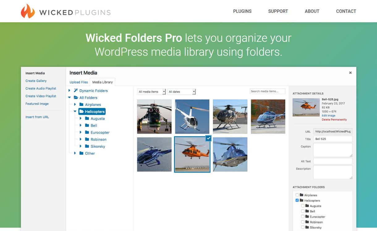 Wicked Folders Pro - WordPress Media Manager Plugins