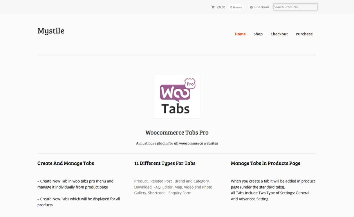 WooCommerce Tab Pro - WordPress Responsive Tab Plugins