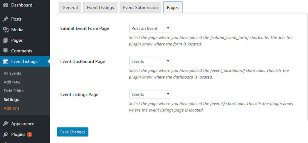 wp event mamager pages - WP Event Manager - The Ultimate WordPress Event Management Plugin