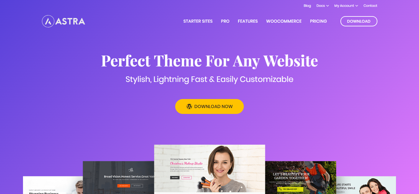 Astra theme - 15 Fastest Loading WordPress Themes in 2019