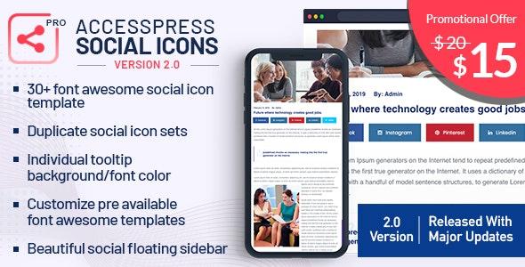 AccessPress Social Icons Pro