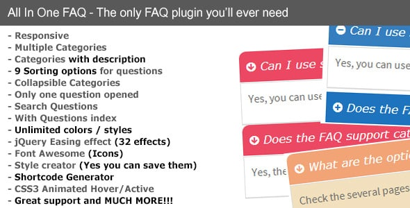 All in One FAQ - WordPress FAQ Plugins