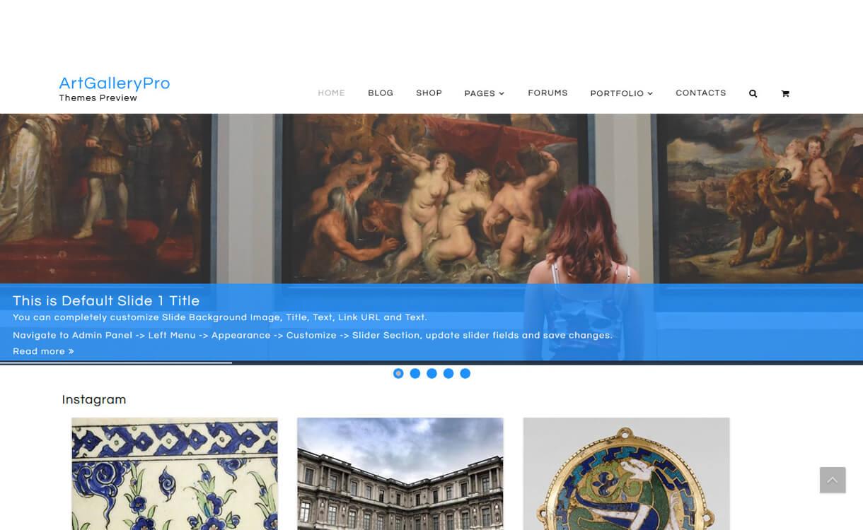 artgallery best free wordpress themes march - 21+ Best Free WordPress Themes March 2018