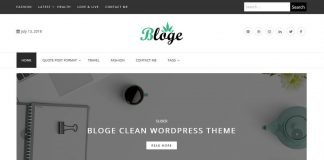 Bloge - Free WordPress Blog Theme