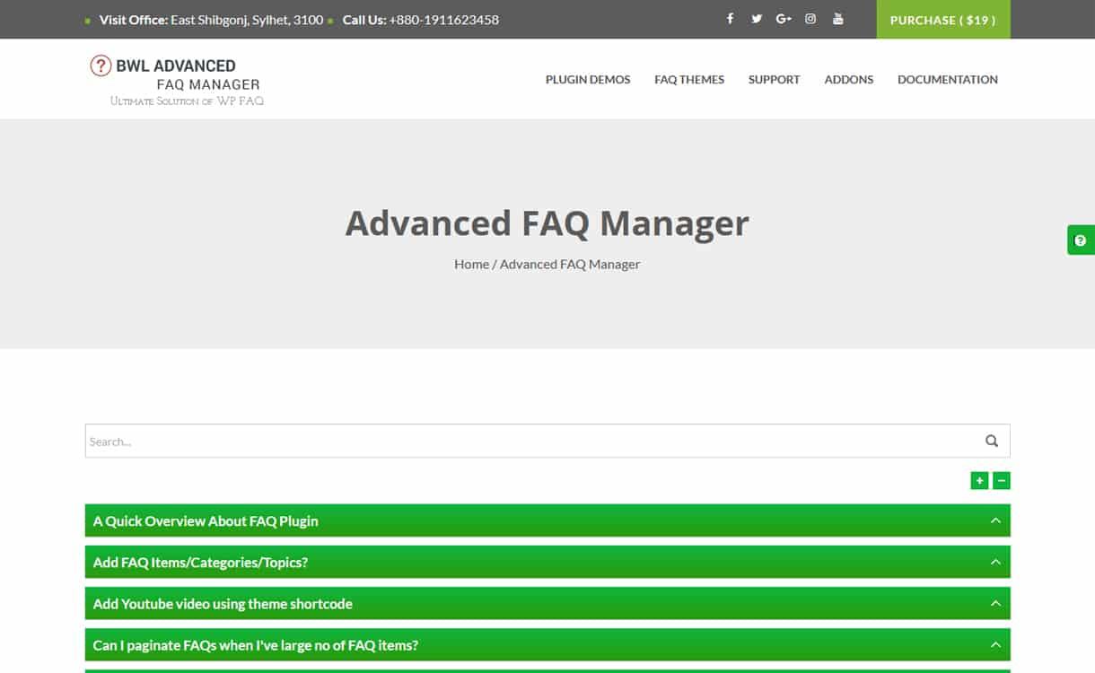 BWL Advanced FAQ Manager - WordPress FAQ Plugins