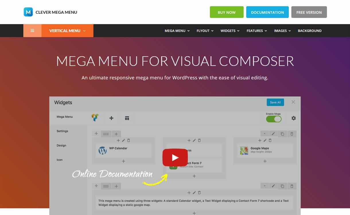 Clever Mega Menu - WordPress Mega Menu Plugins