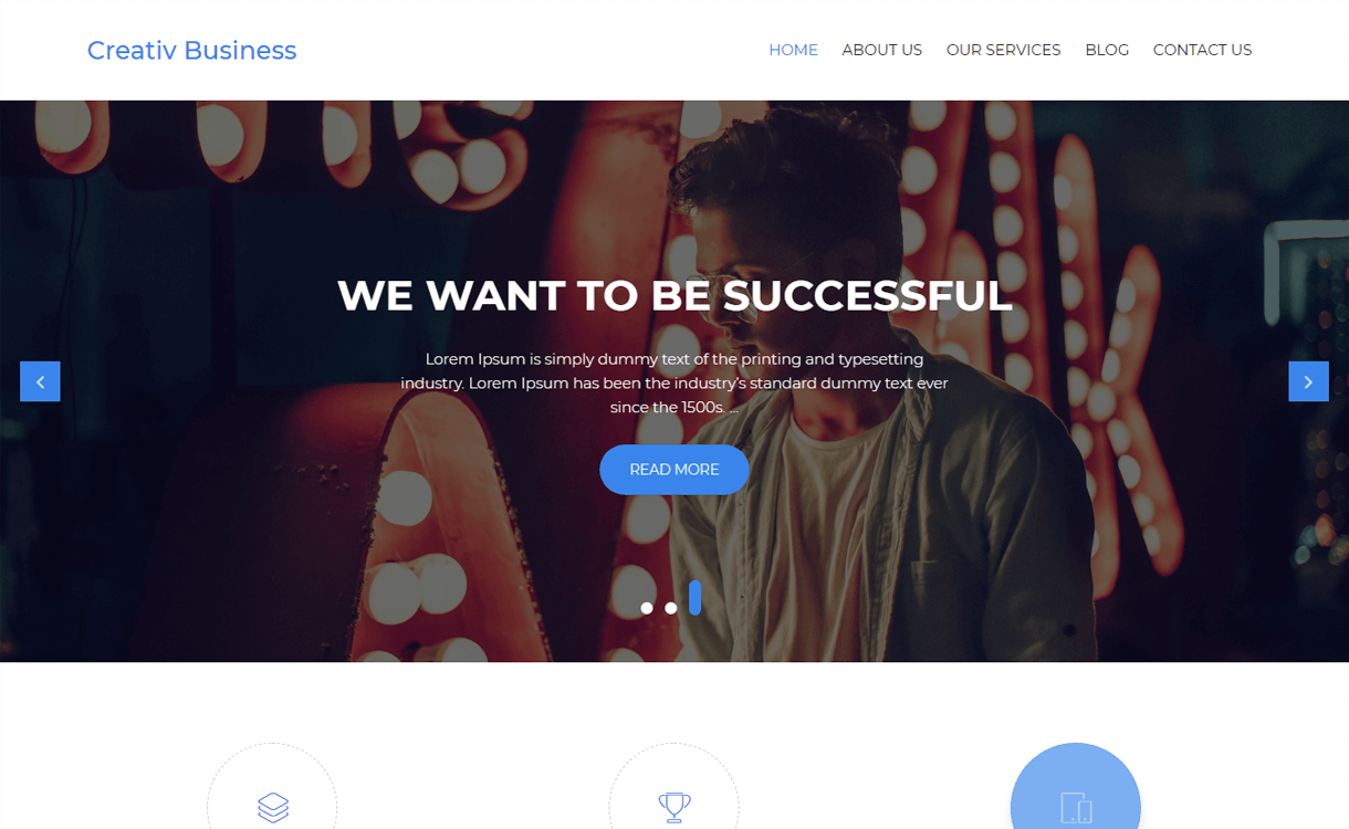 creativ business best free wordpress themes march - 21+ Best Free WordPress Themes March 2018