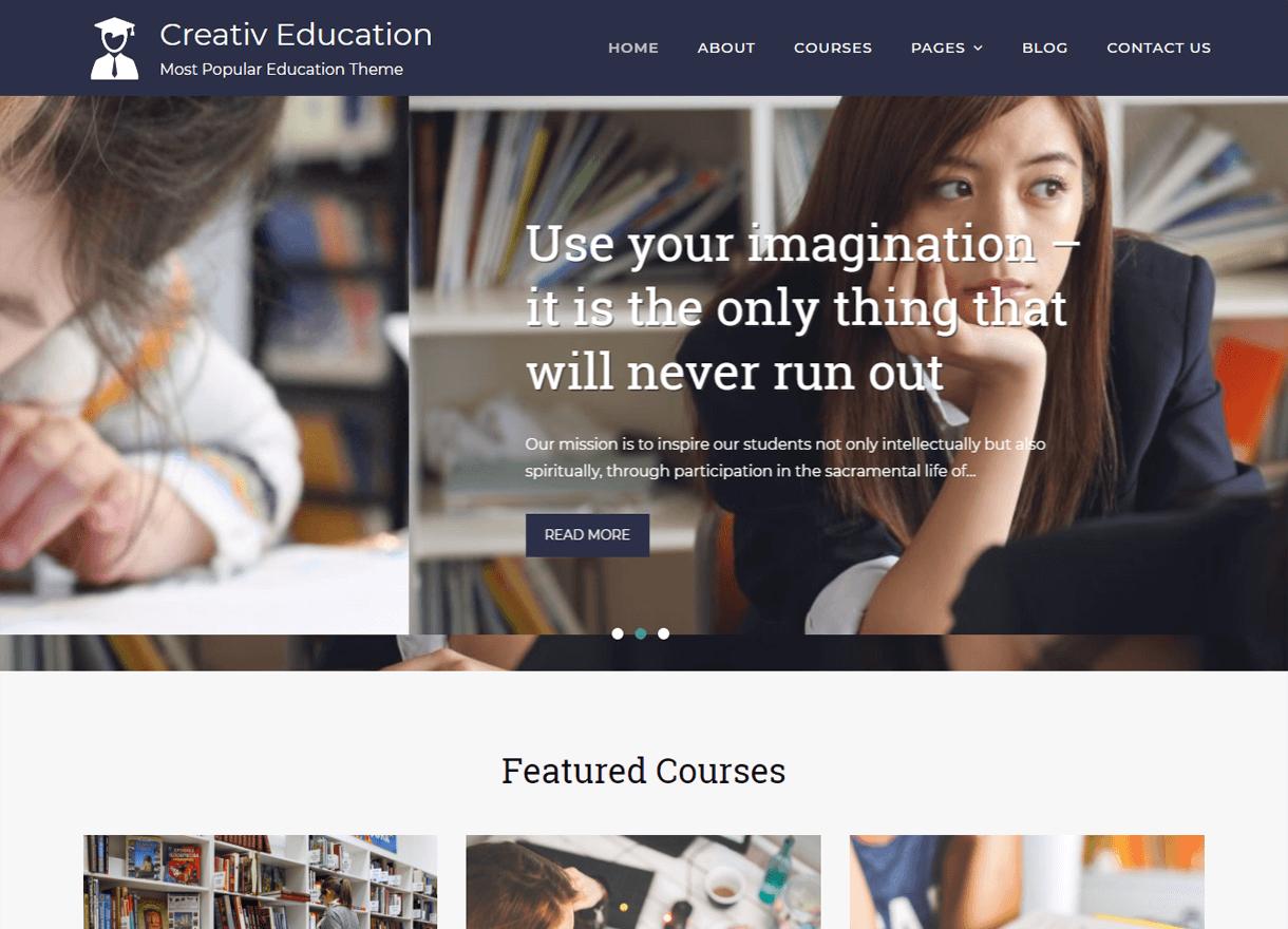 Creativ Education-Best Free WordPress Themes April 2018