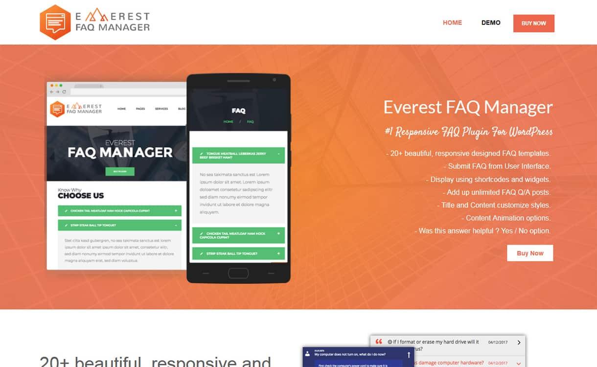 everest faq manager - 5+ Best WordPress FAQ Plugins 2019