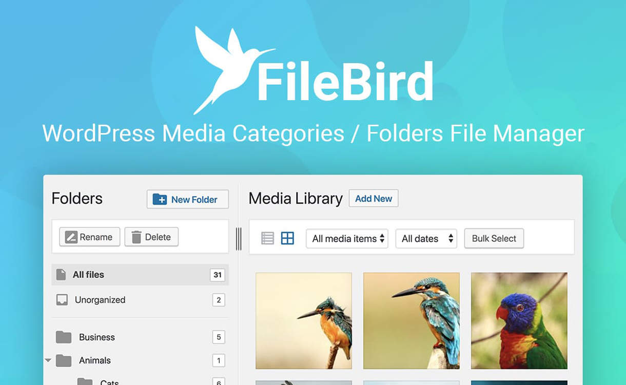 FileBird - WordPress Media Categories Folder File Manager