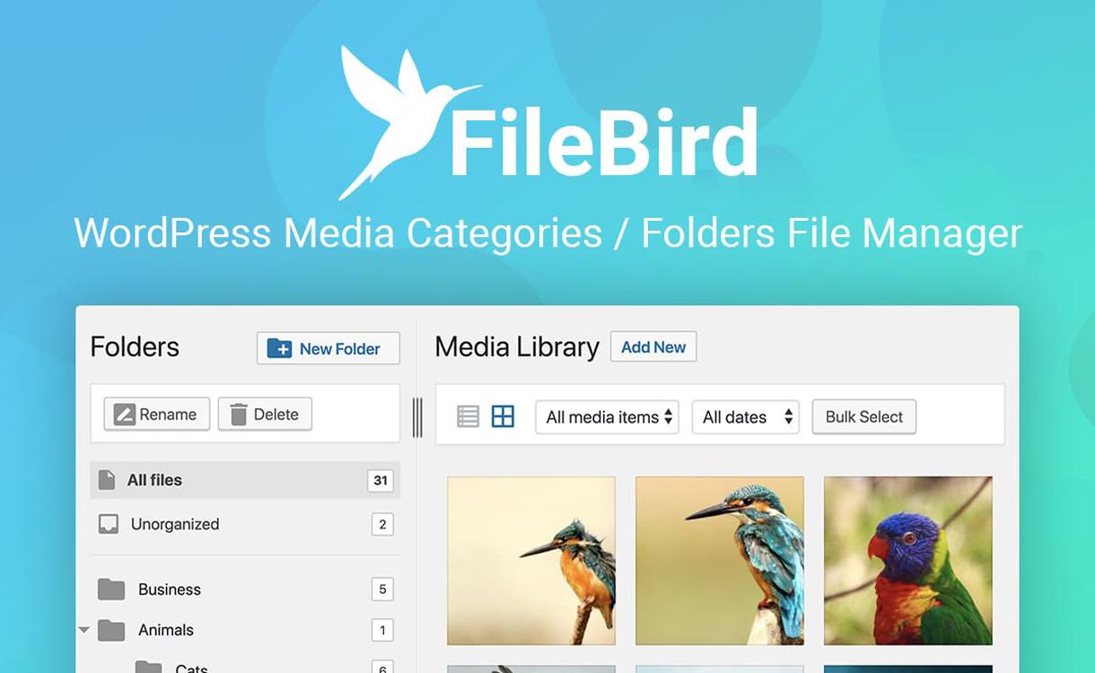 filebird wordpress media categories folder file manager 1 - 5+ Best WordPress Media Manager Plugins